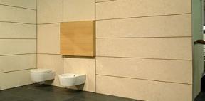 Il rivestimento in un bagno moderno