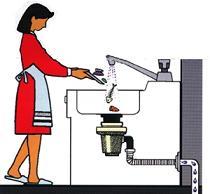 Un esempio di come lo scarico del lavandino si può intasare