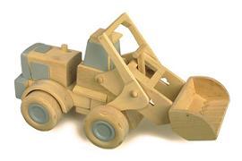 Una costruzione di un giocattolo in legno