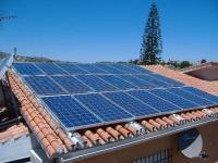 Pannelli fotovoltaici in un'abitazione