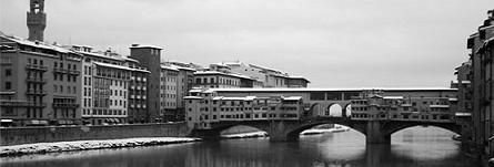 Neve sul Ponte Vecchio di Firenze