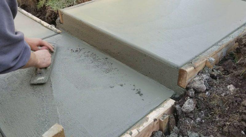 Costruire un gradino di cemento